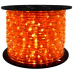 151′ Roll Orange Rope Light – 3 wire