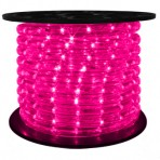 151′ Roll Pink Rope Light – 3 wire