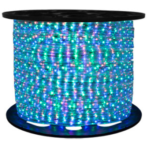 164' RGB Color Changing 4-wire Flat LED Rope Light & Control
