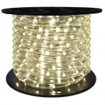 151′ Roll Warm White Rope Light (Clear) – 3 wire