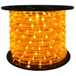 151′ Roll Yellow Rope Light – 3 wire